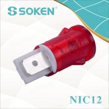 Luz de indicador de neón con 110V, 125V, 24V, 12V