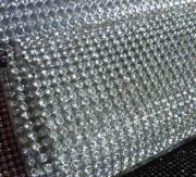 cristal de base quente do reparo de alumínio prata e ouro diamante strass malha fita de 3mm