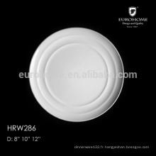 Exportation Hot sale hotel & restaurant lave-vaisselle plaques vitrocéramiques carrées blanches, plaques chargeur, chargeurs en gros