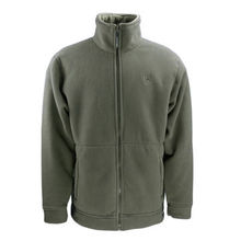 Full Zip Through Fleece Jacket/Men's Classic Jacket with Full Zip and Embroidery Logo