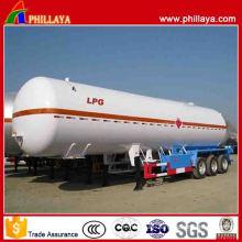 New Style 3 Axles 50-58.5 Cbm LPG Tanker Semi Trailer