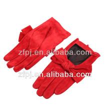 Fashion Ladies gloves wearing driving gloves pig suede gloves