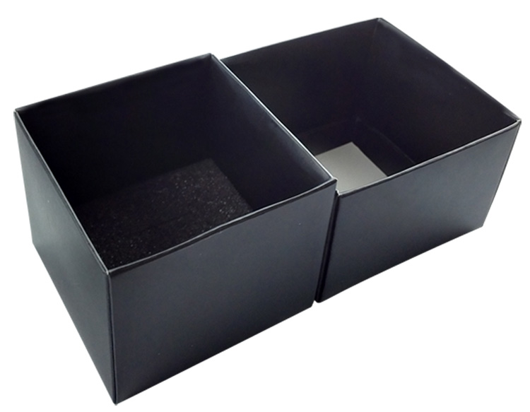 Ribbon decoration black jewelry box