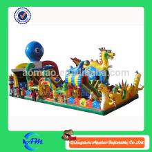 Gigante dragón estilo personalizado inflable parque de atracciones