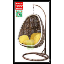 Lovely Hanging Egg Chair Swing Chair for Outdoor Garden Living Rattan Resin Wicker Woven Jha-178