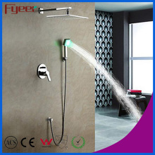 Fyeer Bathroom in-Wall Rainfall Shower Faucet with LED Light