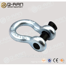 US Type Drop Forged Alloy Steel Shackles/ Screw Pin Shackles/ Crane Shackles/209 Shackles