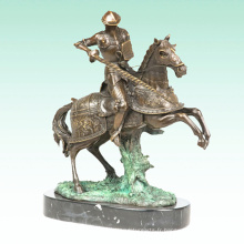 Guerrier Métal Sculpture Médiévale Soldat Home Déco Bronze Statue Tpy-456