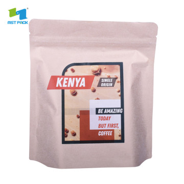 round box bottom one way valve coffee pouch bags