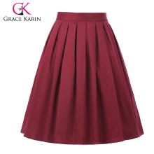 Винтажный Грейс Карин occident женщин Ретро короткий хлопок юбка 50-х годов 21 моделей CL6294-20