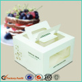 White Cake Box With Window and Handle