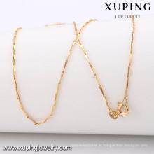 42973 -Xuping Jóias 18K Gold Color Simples Longa Cadeia