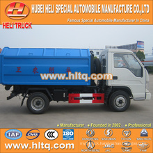 4X2 FOTON FORLAND 4.5m3 98hp hook arm trash truck with good quality and reasonable price in China