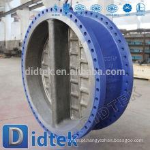 Didtek Dual Plate WCB Flange End Wafer Type Valvula de retenção
