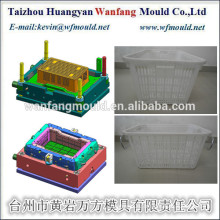 China Taizhou Oem Custom Plastic Injection fish Crate Mould/Mould for fish crate with metal handle