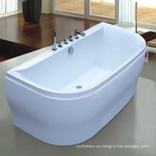 Paseo de acrílico blanco profundo en la bañera para personas gordas