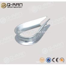 Cosse de câble métallique d'acier galvanisé matériel marine