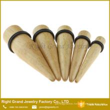 Organic Natural Wood color Taper Ear Expander Plug