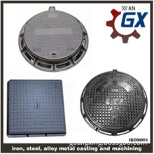 Buy Sewer Heavy Duty Ductile Iron Square And Round Manhole Cover And Frame En124 d400