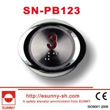 Botão de elevador Botão Braille para elevador (SN-PB123)