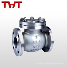 pn16 brida de acero inoxidable oscilación válvula de retención de 8 mm