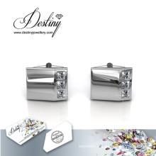 Destin bijoux cristal de Swarovski brillant Monsieur 2 boutons de manchettes