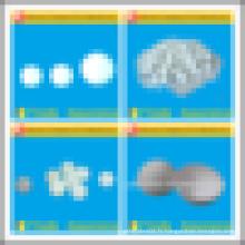 Boules en plastique personnalisées de 5,0 mm - PTFE / POM / PE / PP