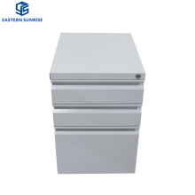 Small Filing Storage Under Desk 3 Small Drawer Mobile Metal Cabinet