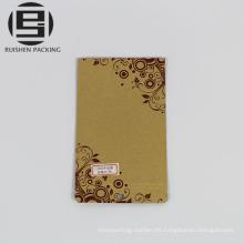 Bolsas de bolsas de papel kraft marrón con impresión