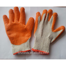 cotton knitted gloves coated with rubber palm