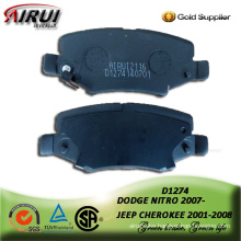 Semi-metalli brake pad for JEEP CHEROKEE 2001-2008 front