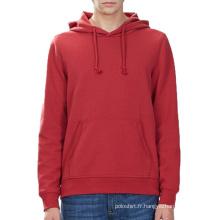 2016 Best-Seller Product Rouge Couleur Blanc Hommes Stringer Sweat à Capuche