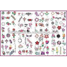 2016 hot sale flower airbrush tattoo stencil,make airbrush stencils