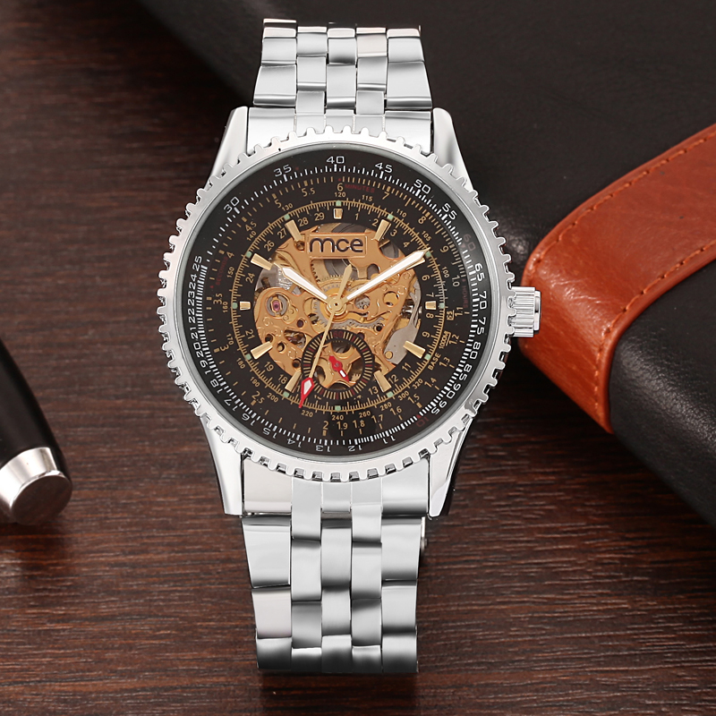 luxury oem automatic mechanical men watch