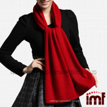 Custom Plain Red Cashmere Knitted Shawl