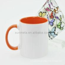 Cor da sublimação canecas cor interna da cor e do punho canecas caneca do revestimento do copo