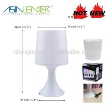 Tischlampe 4RGB LED batteriebetriebenes Stimmungslicht