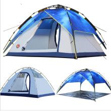 Tente de 4 hommes en gros, tente de camping de famille de polyester
