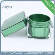 Nuevos frascos de embalaje de lujo envases de acrílico cosmético frascos de crema de acrílico para el cuidado de la piel