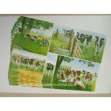 Wholesale Cow Printed PP Table Place Mat