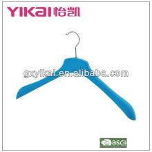 coat flocking hanger with wide shoulder