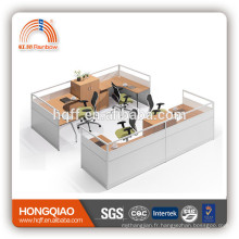 (MFC) PT-11 mélamine pour 4 personnes workstation cadre en acier inoxydable mobilier de bureau