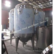 Fermenteur de brassage de fond de cône d'acier inoxydable