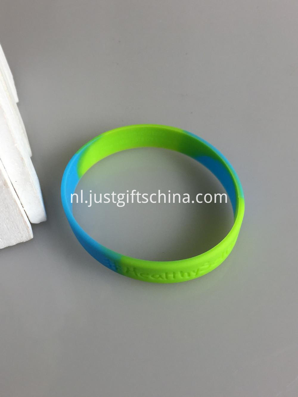 Segment Debossed Silicone Wristbands - 180mmx12mmx2mm (3)