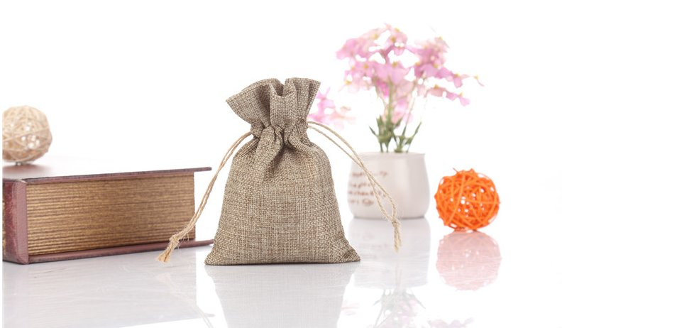 cotton jute drawstring bag