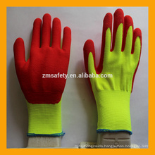 15G Thicken Nylon Sandy Nitrile Double Dipped Oil Field Work Gloves