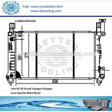 Radiateur automatique en aluminium pour Chrysler Grand Voyager / Voyager 93-95 AT OEM: 4644266 4644364AB 4778044