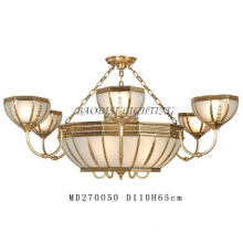 bronze finish indoor hanging lamp Copper & Glass European Style