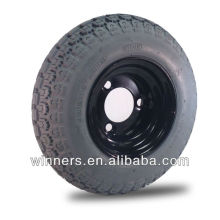 """Roda e pneu sem câmara de 9 """"x 3,50-4"""