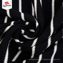 Malha listra preto e branco vestido de tecido mulheres